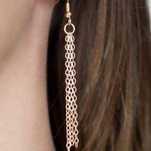 paparazzi Jewelry - Gold necklace/earrings paparazzi